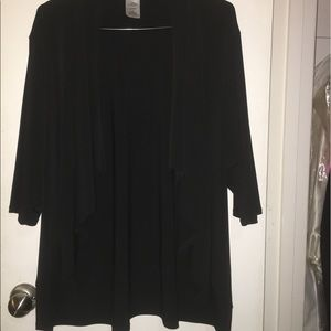 Black Tapered Front Cover Sweater NWOT